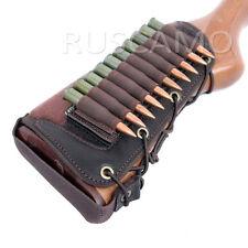 Rifle Buttstock Bullet Cartridge Holder Carrier Ammo  .308, 7.62 brown
