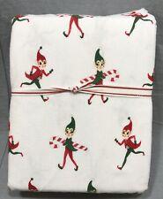 Pottery Barn Kids Organic Flannel Classic Elf Twin Sheet Set