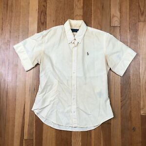 Polo Ralph Lauren Yellow Button-up Shirt. Youth Boy Size 8 ~ Measurements Posted