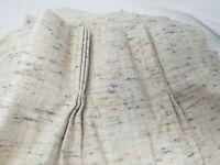 "1 Vintage PINCH PLEAT Drapes Curtain Oatmeal DRAPERY PANELS 32"" wide x 73"" long"