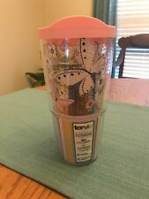 TERVIS TUMBLER 24 OZ HALLMARK BUTTERFLIES WRAP WITH PINK LID - 2011 - NEW
