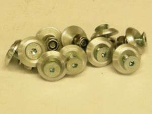 10 Fairing washers M5 countersunk C/W Screws and Nylocs 10 pieces CNC Aluminium