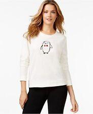 Hue Pajama Tee Top Penguin Long Sleeve Women's Size M NWT MSRP $40.00