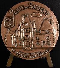 Medaille Château des Stuarts Aubigny-sur-Nère Porte de Sologne 68 mm 218 g Medal