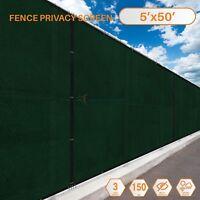 5'x50' Fence Windscreen Privacy Screen Shade Cover Fabric Mesh Garden 88% Block