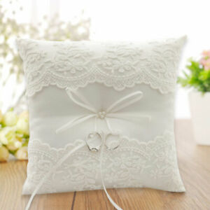 Ring Pillow Bow Decor Cushion Embroidered Flowers European Wedding Romantic New