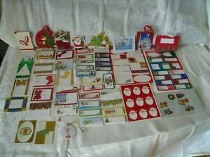 LOT CHRISTMAS GIFT TAGS AND STICKERS