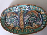 Ceramica ANNA BORIA CALTAGIRONE piatto ovale