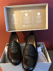 New unstructured by Clarks black patent leather mocassins UN Blush Go sz 8M