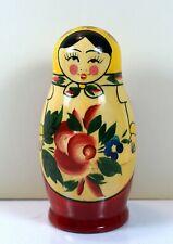 Matryoshka nesting doll, 4 pieces, vintage, 3 x1.5 Free Shipping No Returns