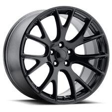 "4  Dodge SRT Hellcat 22"" Gloss Black Wheels Staggered OE 22x9 22x10 Charger"