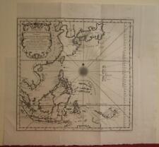 PHILIPPINES INDONESIA ESAT INDIES JAPAN KOREA 1746 BELLIN UNUSUAL ANTIQUE MAP