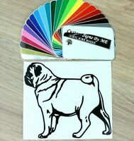 Pug Dog Wall Door Car Sticker Vinyl Decal Adhesive Window Bumper Tailgate Laptop