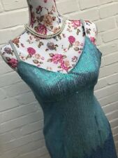 Karen Millen Blue Sequin Dress Size 10 Party Evening Gatsby Ombre Figure Hugging