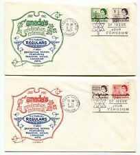 Canada Fdc 1967 Qeii Centennial Issue - Two Different Artopages Cachet Covers
