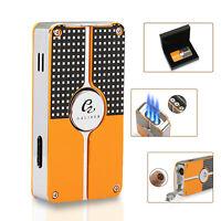 Galiner Cigar Lighter 3 Torch Flame Cigarette Lighter Butane Windproof Gift Box