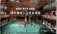 SACRAMENTO, CA California  Interior of SWIMMING BATHS  ~ Slide   1914  Postcard