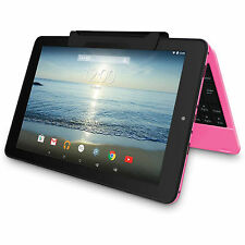 "NEW RCA Viking Pro 10 10.1"" 2-in-1 Tablet 32GB Quad Core Android Keyboard PINK"