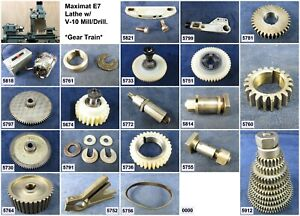 EMCO Maximat 7 Lathe Parts & Accessories - Free Ship - Choose Your Parts!