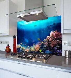 Printed Kitchen Glass Splashback - Toughened & Heat Resistant Cooker Panel 1178