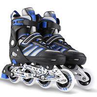 Inline Skate Rollerblade Roller Blades Boots PU Wheel Size S~L Adult Kids USship