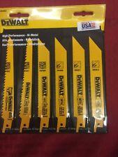 "Dewalt Metal/Wood Cutting Set 6 Pc. 6 "" Pouch Bi Metal Free Shipping DW4856"