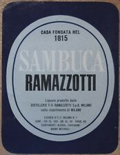ETICHETTA SAMBUCA RAMAZZOTTI ANNI '70 LIQUORE MILANO MILAN LOMBARDIA