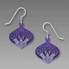 Adajio Earrings Tanzanite Purple Moroccan Style Filigree Drop Aqua Lotus Design