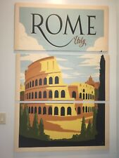 """A Wall Art Canvas Picture Print - Rome Italy 62"""" Hanging Coliseum"""
