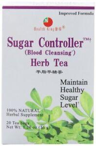 Health King Sugar Controller Herb Tea Teabags 20-Count Box Pack of 4