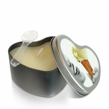 Earthly Body Edible Heart Massage Oil Candle Vanilla Flavored 4.7oz