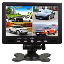 """7""""Inch HD 4 Split Quad Video Display 4 Video Input TFT LCD Car Rear View Monitor"""