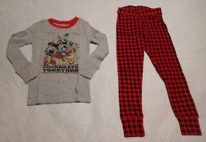 NWT Gap Kids Disney Mickey Mouse Holiday Christmas Pajamas PJs 2PC Set