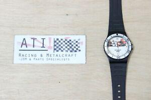 Rare Vintage Honda Mclaren F1 F-1 Formula 1 Racing Stainless Wrist Watch Clock