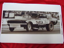 1967 ? FORD MUSTANG TASCA FORD  RACE CAR  11 X 17  PHOTO  PICTURE