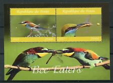 Benin 2017 CTO Bee-Eaters Bee Eaters 2v M/S Birds Stamps