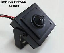 5MP IP Pinhole POE Spy Nanny Hidden Camera - 3.7mm Lens HD ONVIF