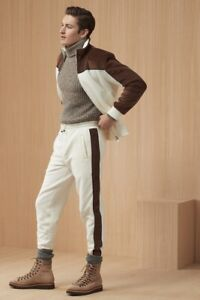 Brunello Cucinelli Tracksuit Vest Sweat pants Cotton Cream S Small $3,500