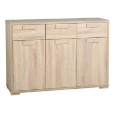 Cambourne 3 Door 3 Drawer Sideboard in Light Sonoma Oak Wood Living Room Cabinet