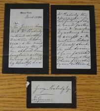FACSIMILE LETTER & ENVELOPE QUEEN VICTORIA TO GEORGE PEABODY WINDSOR 1886