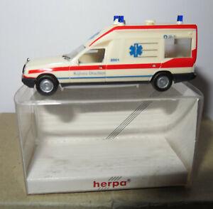 HERPA HO 1/87 MERCEDES MIESEN BONNA AMBULANCE EMERGENCY 042123 KIJLSTRA DRACHTEN