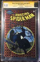 Amazing Spider-Man #300 Chromium Marvel Signed Stan Lee & Micheline CGC SS 9.8