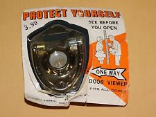 Vintage Protect Yourself One Way Door Knocker Viewer Unused Fits All Doors
