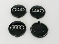 4x 60mm AUDI Black Wheel Centre Caps Hub Cover 4B0601170