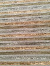 """Green Stripe Crypton Fabric Chenille Accents 7.5 Yards 59"""" Wide"""