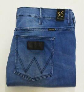 Wrangler Stranglers Jeans Size 36 L 32 Men's Straight Leg Blue Zip Fly