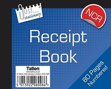 3 x Small Receipt Book -CARBONLESS- Duplicate 1 - 80 Pages Copy Cash Pad NCR