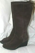 UGG Australia Dawna Waterproof Suede Lace up Wedge Knee High Boot 1017429 sz 6