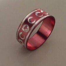 Ring * Modeschmuck * Aluring * rosa * 17 mm