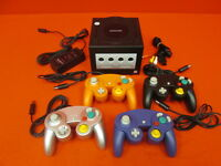 Nintendo GameCube System Console Jet Black With 4 Controllers Very Good 9408